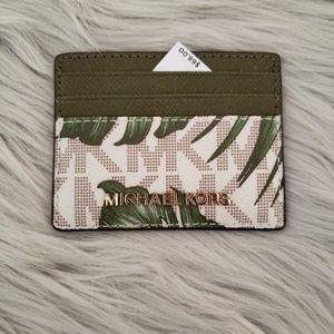 a9e63313b2f8 Michael Kors · Michael Kors Palm Leaves Logo Card Holder ONLY. NWT
